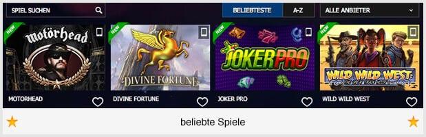 10bet Casino Spiele-Angebot