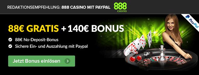 888 Casino Empfehlung PayPal