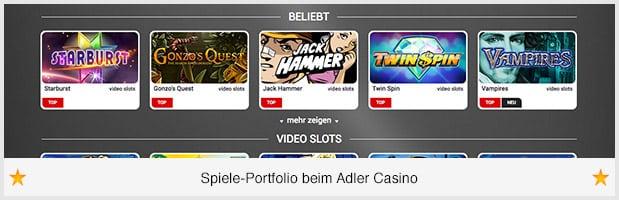 Adler Casino Spiele