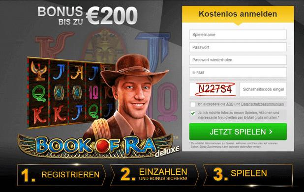 Book of Ra Casino mit PayPal und Bonus für die Neuanmeldung bei Stargames
