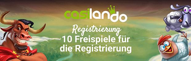 Casilando Bonus: Bis zu 300 Euro + 100 Freispiele für Neukunden