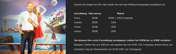 Casino Cruise Bedingungen