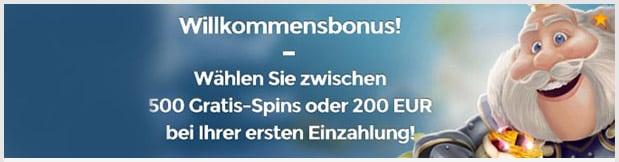Casino Heroes Bonus: Bis zu 500 Freispiele oder 200 Euro Einzahlungsbonus