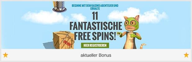 Casino JEFE Bonus: 275 Euro + 11 Freispiele für neue Kunden
