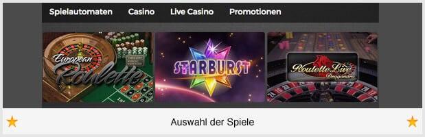 Casino Extra Spiele-Angebot