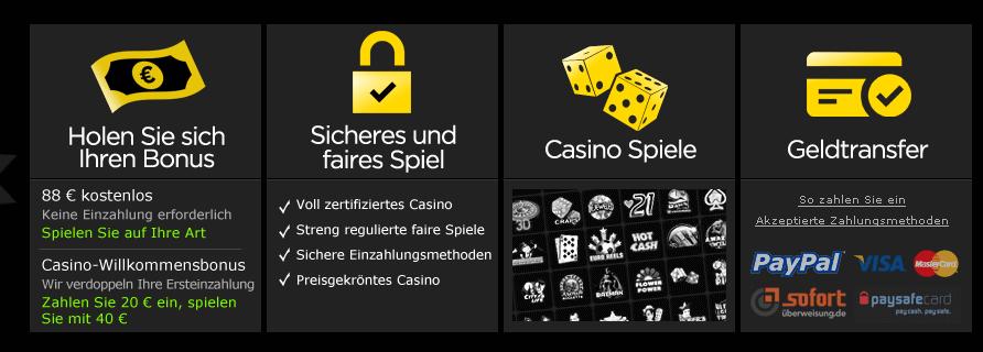 Bei vielen seriösen Casinos ist die Sofortüberweisung Standard