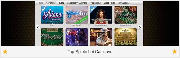 Casinovo_Spiele