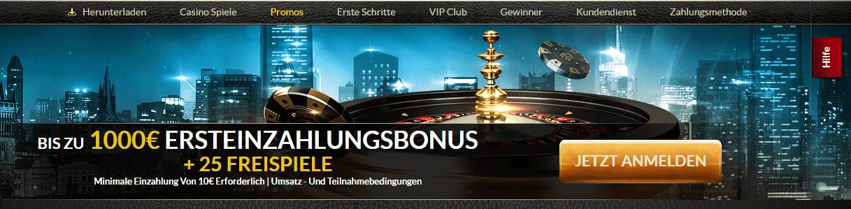 EuroGrand Willkommensbonus 1.000 Euro Freispiele