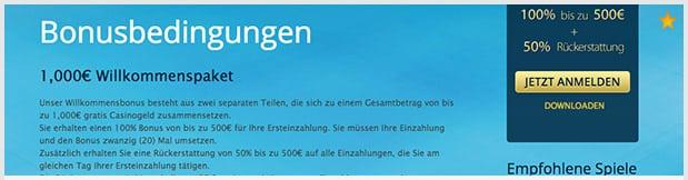 Europaplay Bonus: 1000 Euro für neue Kunden