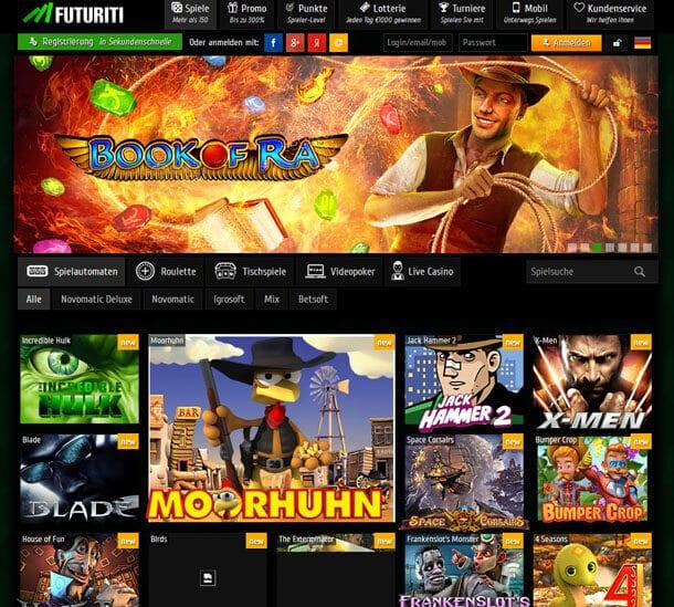 Futuriti Casino No Deposit Bonus Code