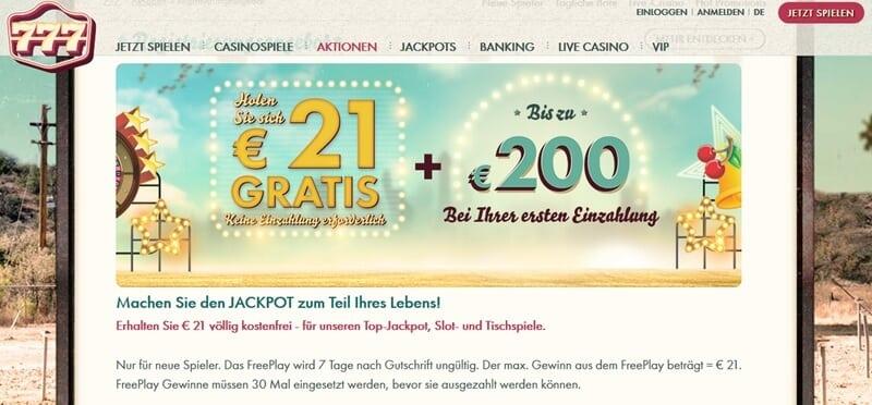 Screenshot 777 FreePlay Bonus