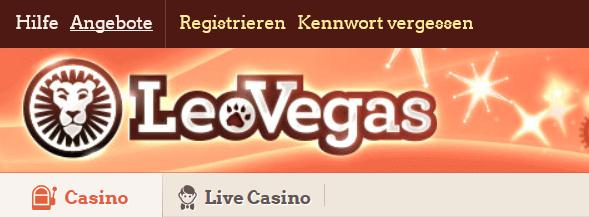Bei Leo Vegas registrieren und Boni beanspruchen