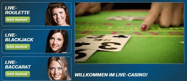 bet-at-home Live Blackjack mit echtem Dealer spielen
