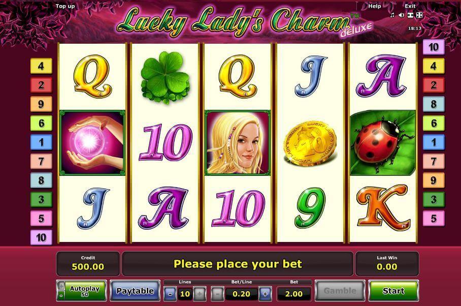 Lucky Lady's Charm Deluxe Bonus ohne Einzahlung