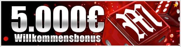 Mansion Casino Bonus: Bis zu 5.000 Euro für Neukunden