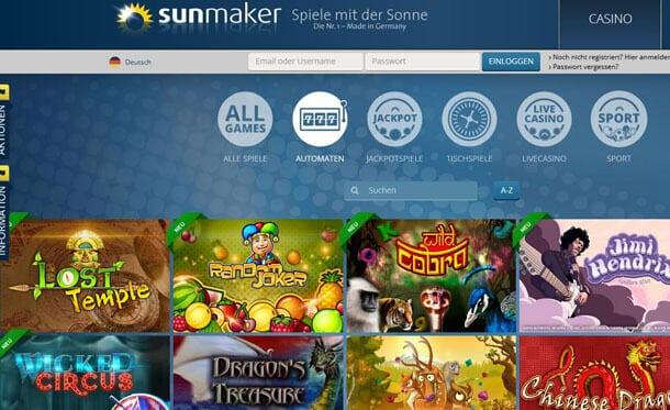 Merkur Spiele im bei Sunmaker