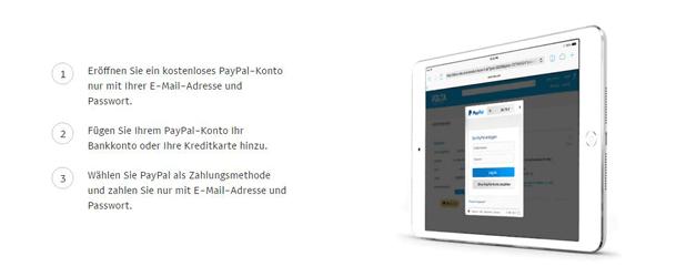 PayPal nutzen für die Zahlaufträge im Internet