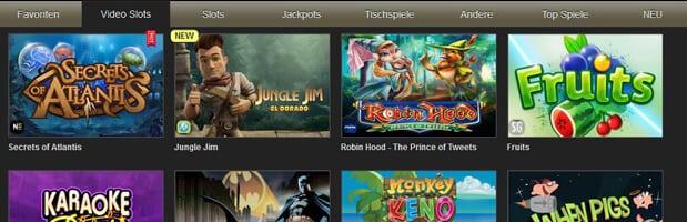 Slots und mehr im online Casino