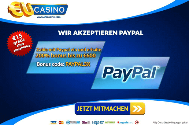 Online Casino mit PayPal Bonus