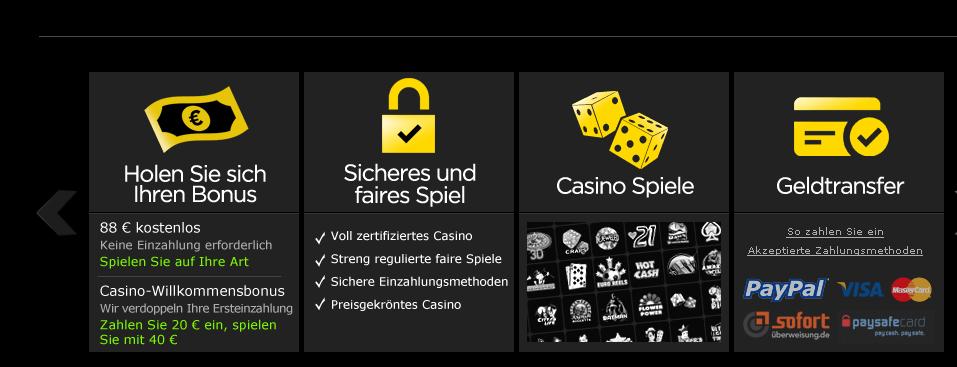 Online Casino mit Echtgeld spielen