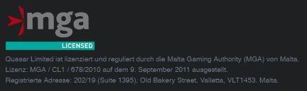 Quasar Gaming Lizenz aus Malta
