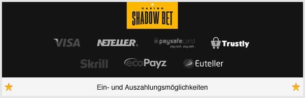 ShadowBet Auszahlungen