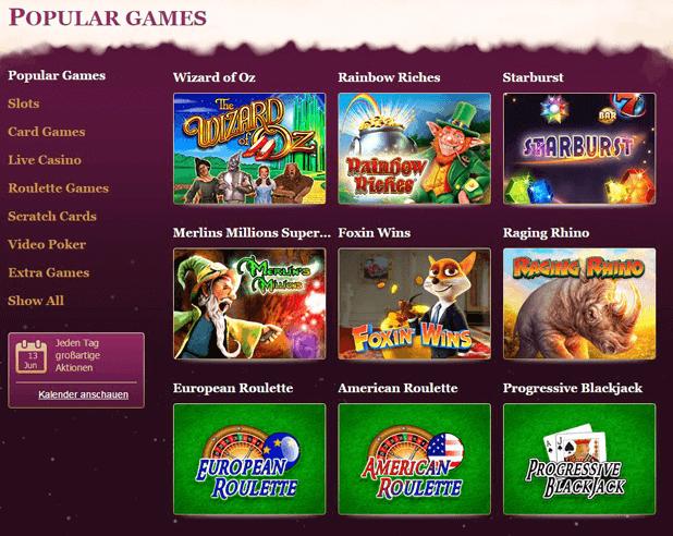 Simba Games Dauer für PayPal Einzahlung