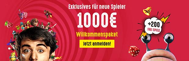 Spinit Bonus: Bis zu 1.000 Euro + 200 Freispiele für Neukunden