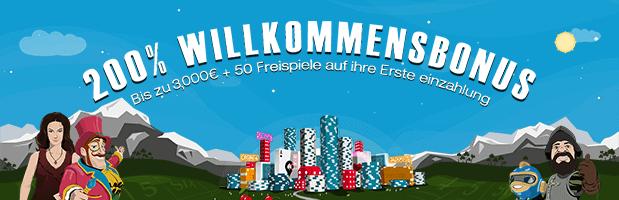 Spinland Bonus: Bis zu 3.500 Euro + 200 Freispiele für Neukunden