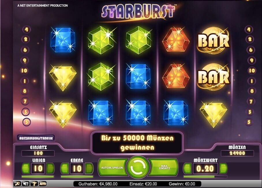 Starburst mit PayPal 1