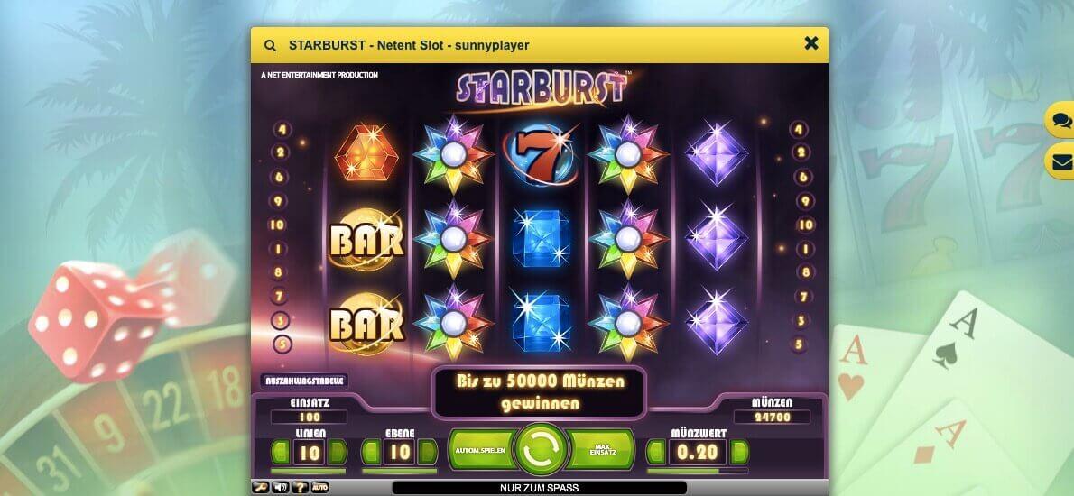 Starburst online mit Echtgeld spielen