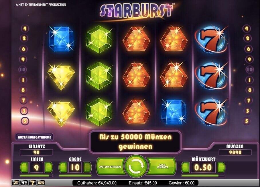 Starburst Slot Spiel
