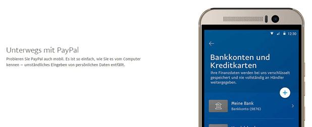 PayPal ist ein Zahlungsmittel, das sowohl mobil als auch zu Hause funktioniert