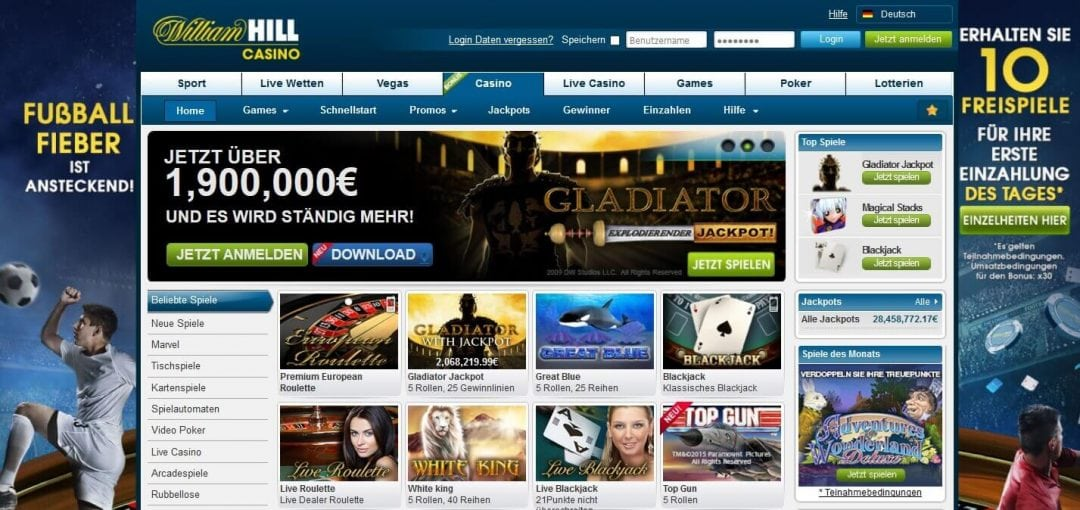 william hill casino anmelden