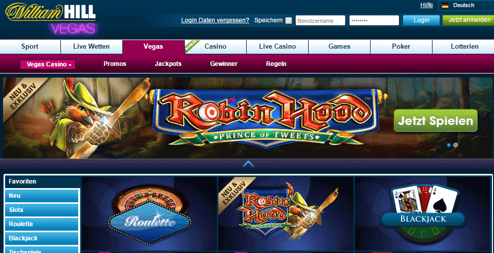 William Hill Roulette Blackjack Spiele