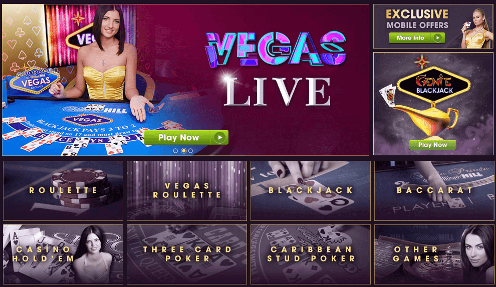 William Hill Live Roulette Spiele Poker