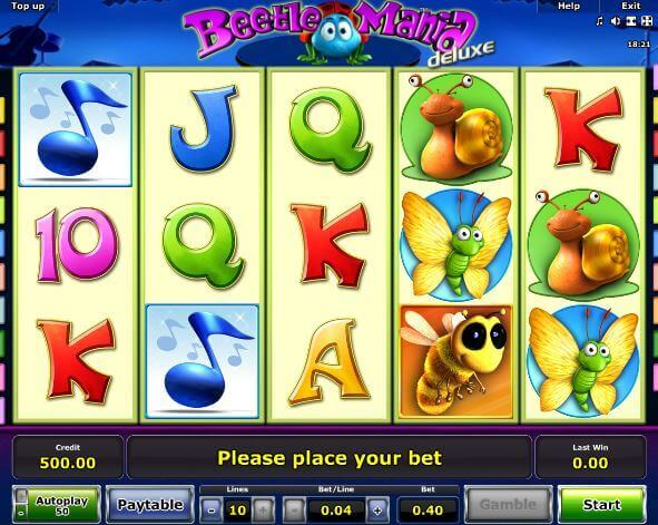 Beetle Mania mit Echtgeld spielen und Jackpot abstauben