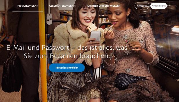 PayPal Einzahlung per Passwort und E-Mail-Adresse vornehmen