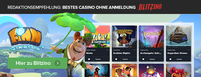 Redaktionsempfehlung Bestes Casino ohne Anmeldung