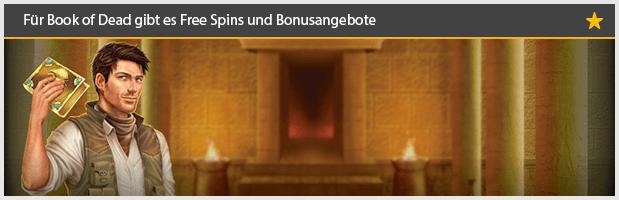 Book of Dead Spielautomaten mit Bonus