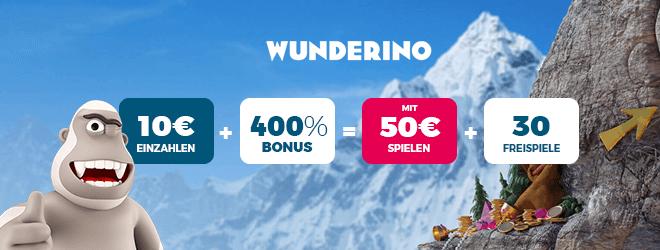 NetEnte Casino Wunderino Bonus