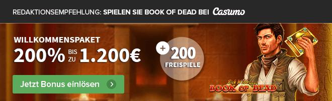 Empfehlung Book of Dead Casumo Casino