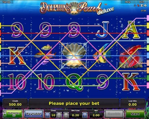 Dolphin's Pearl Deluxe Gewinnkombinationen bei Rivo Casino