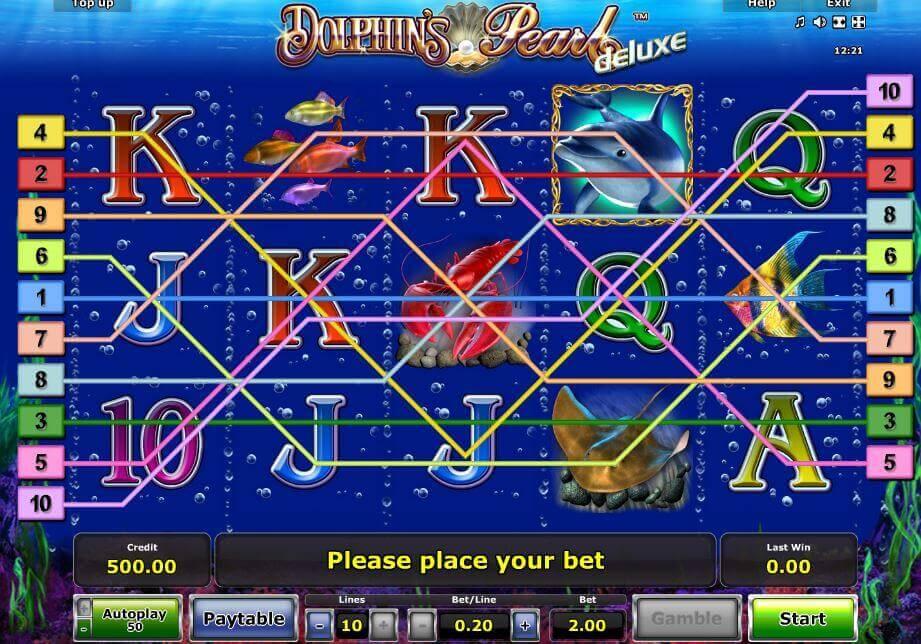 Novoline-Slot Dolphin's Pearl Gewinnreihen bei Rivo Casino