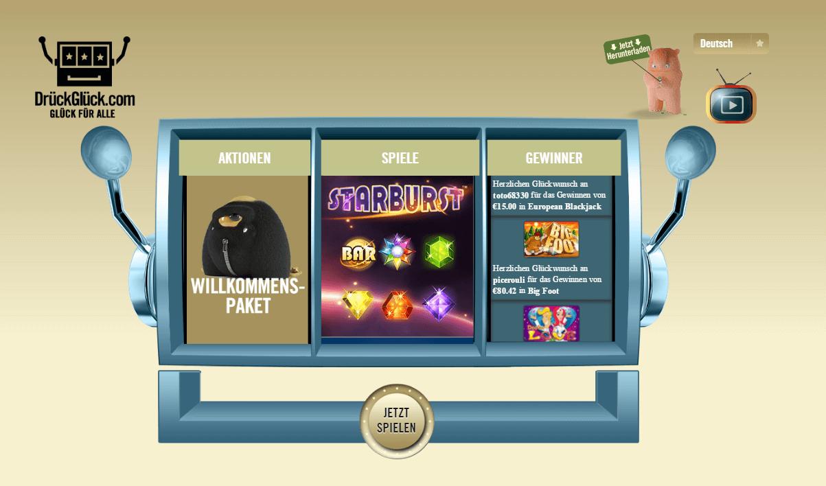 Drückglück Casino Startseite