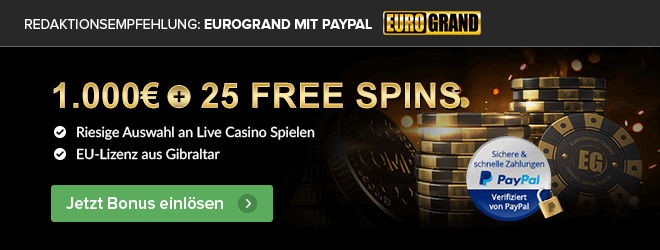 Eurogrand Empfehlung PayPal