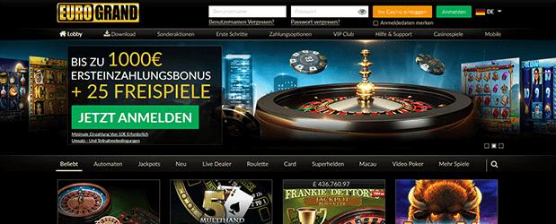 Eurogrand NetEnt Bonus