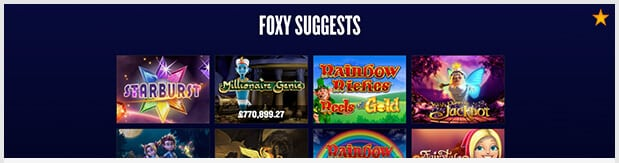 Foxy Casino Spiele-Angebt