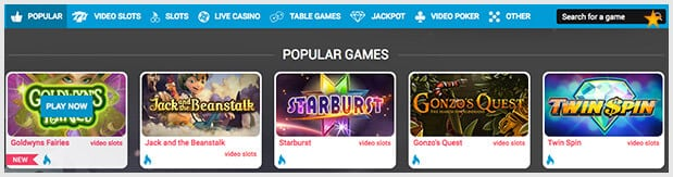 Free Spins Casino Spieleangebot