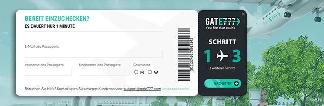 Gate 777 Casino Anmeldung